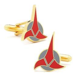 Men's Cufflinks Inc Star Trek Klingon Red/Grey/Gold