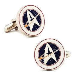 Men's Cufflinks Inc Star Trek Starfleet Command White/Blue