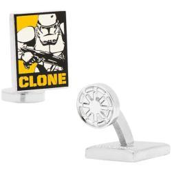 Men's Cufflinks Inc Star Wars Clone Trooper Pop Art Poster Cufflinks Yellow/Black/White 14537509