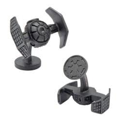 Men's Cufflinks Inc Star Wars Darth Vader TIE Fighter Cufflinks Matte Black 14537519