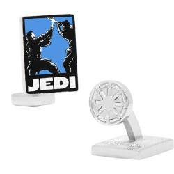 Men's Cufflinks Inc Star Wars Jedi Pop Art Poster Cufflinks Blue/Black