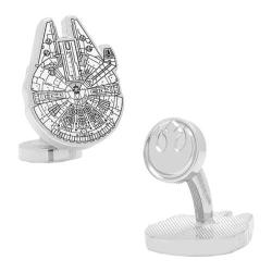 Men's Cufflinks Inc Star Wars Millenium Falcon Blueprint Cufflinks White