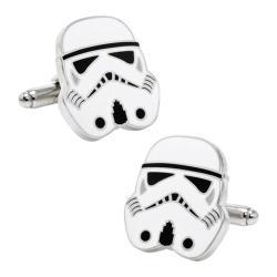 Men's Cufflinks Inc Star Wars Storm Trooper Head Cufflinks White