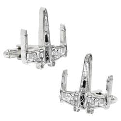 Men's Cufflinks Inc Star Wars X-Wing Starfighter Blueprint Cufflinks Silver