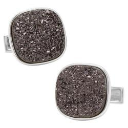 Men's Cufflinks Inc Sterling Square Druzy Cufflinks Black