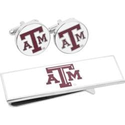 Men's Cufflinks Inc Texas A & M Aggies Cufflinks/Money Clip Gift Set Maroon