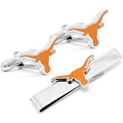 Men's Cufflinks Inc Texas Longhorns Cufflinks and Tie Bar Gift Set Burnt Orange