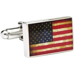 Men's Cufflinks Inc Vintage USA Flag Cufflinks Multi