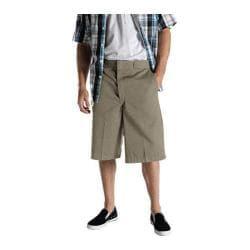 Men's Dickies 13in Loose Fit Twill Stripe Multi-Pocket Work Short Khaki