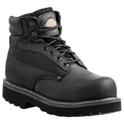 Men's Dickies Breaker Steel Toe Black Waterproof Full Grain Leather