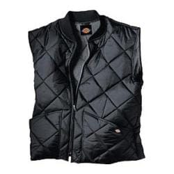 Men's Dickies Diamond Quilted Nylon Vest Black