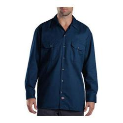 Men's Dickies Long Sleeve Work Shirt Dark Navy