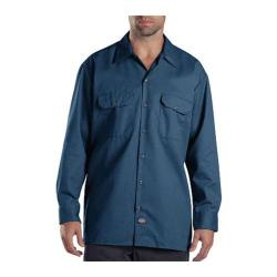 Men's Dickies Long Sleeve Work Shirt Navy