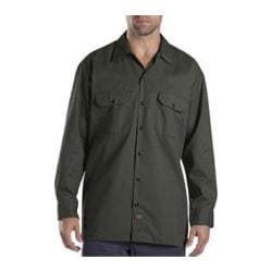 Men's Dickies Long Sleeve Work Shirt Olive Green