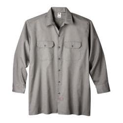 Men's Dickies Long Sleeve Work Shirt Tall Silver Grey