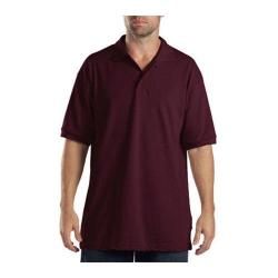 Men's Dickies Short Sleeve Pique Polo Burgundy
