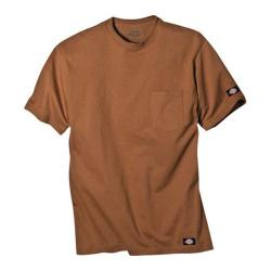 Men's Dickies Short Sleeve Pocket T-Shirt w/ Wicking Tall Brown Duck