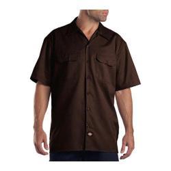 Men's Dickies Short Sleeve Work Shirt Dark Brown