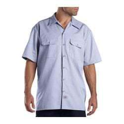 Men's Dickies Short Sleeve Work Shirt Light Blue