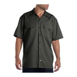 Men's Dickies Short Sleeve Work Shirt Olive Green
