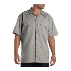 Men's Dickies Short Sleeve Work Shirt Silver Grey