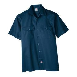Men's Dickies Short Sleeve Work Shirt Dark Navy