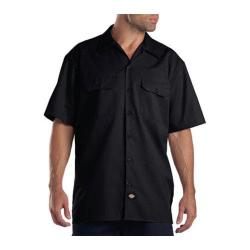 Men's Dickies Short Sleeve Work Shirt Tall Black