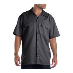 Men's Dickies Short Sleeve Work Shirt Tall Charcoal