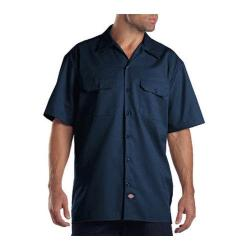 Men's Dickies Short Sleeve Work Shirt Tall Navy