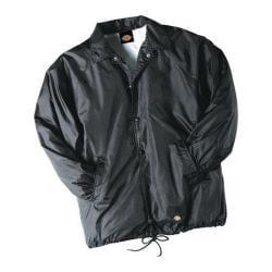 Men's Dickies Snap Front Nylon Jacket Black