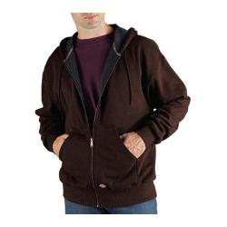 Men's Dickies Thermal Lined Fleece Jacket Dark Brown