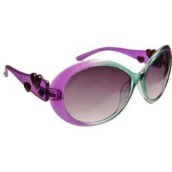 Women's Eye Design 10472 (2 Pairs) Green to Purple/Smoke Lens