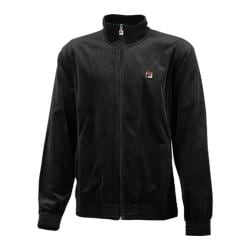 Men's Fila Solid Velour Jacket Black