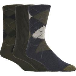 Men's Gold Toe Argyle 2096S (12 Pairs) Multi Pack (Denim/Olive/Navy)