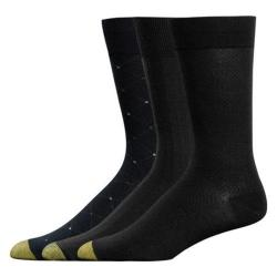 Men's Gold Toe Rayon Bamboo Fashion Pack 2055S (12 Pairs) Black