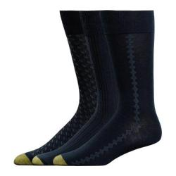 Men's Gold Toe Rayon Bamboo Fashion Pack 2056S (12 Pairs) Navy