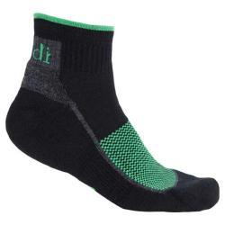 Ibex 1/4 Crew Sock - Set of 2 Black/Green
