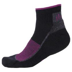 Ibex 1/4 Crew Sock - Set of 3 Black/Plum