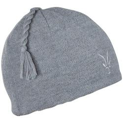 Women's Ibex Top Knot Hat Tin Heather
