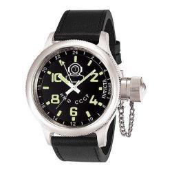 Invicta Men's Russian Diver 7002 Black Leather Swiss Quartz Watch 14562442