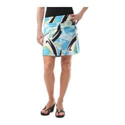 Women's KiKi*C The Skinny Skort Blue/Black/White Floral