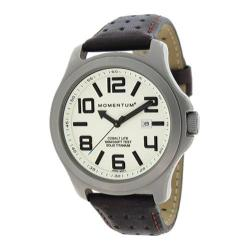 Men's Momentum Watch Cobalt Lite Titanium/Brown Perf Leather