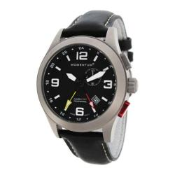Men's Momentum Watch Vortech GMT Black/Black Cloud Leather