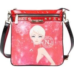 Women's Nicole Lee Erika Print Cross Body Red