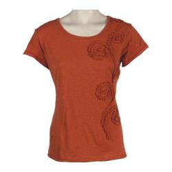 Women's Ojai Clothing Applique Tee Orange Sunset