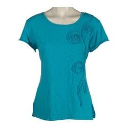 Women's Ojai Clothing Applique Tee Turquoise