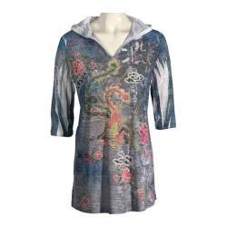 Women's Ojai Clothing Burnout Cover-up Charcoal Crane