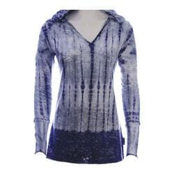 Women's Ojai Clothing Burnout Hoody 2 Silver/Navy