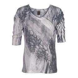Women's Ojai Clothing Burnout Relaxed Fit Vee Dove Grey Pebble Creek