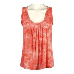 Women's Ojai Clothing Burnout Retro Tank Orange Sunset